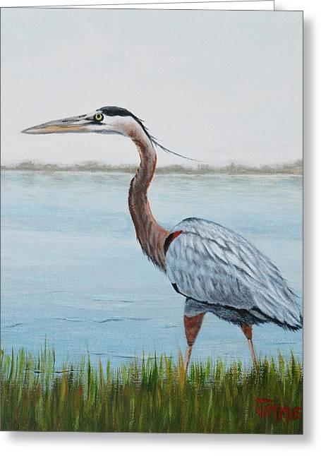 Heron In The Marsh Greeting Card