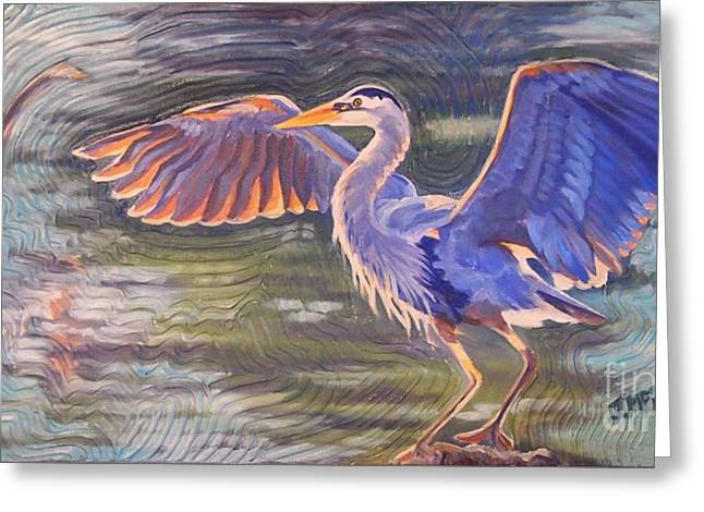 Heron Majesty Greeting Card by Janet McDonald