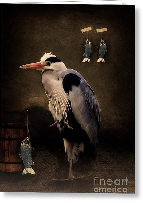 Heron's Home Greeting Card by Angela Doelling AD DESIGN Photo and PhotoArt