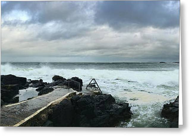 Greeting Card featuring the photograph Herring Pond Panorama by Colin Clarke