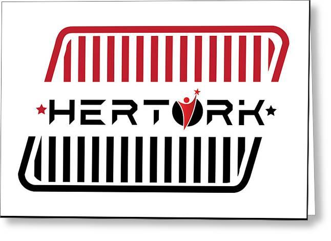 Herturk Fashion Brand Logo Greeting Card by Emre Yaprak