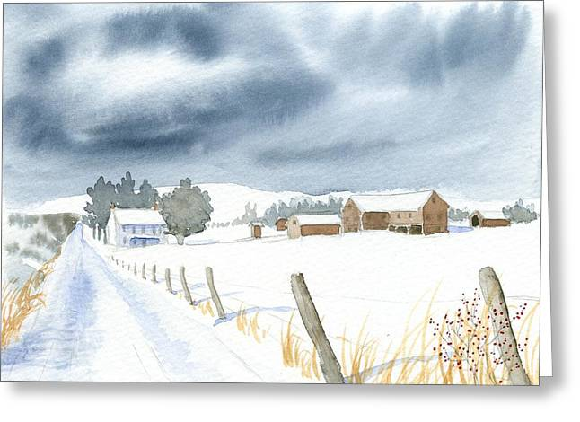 Hester Homeplace Greeting Card by Denise   Hoff