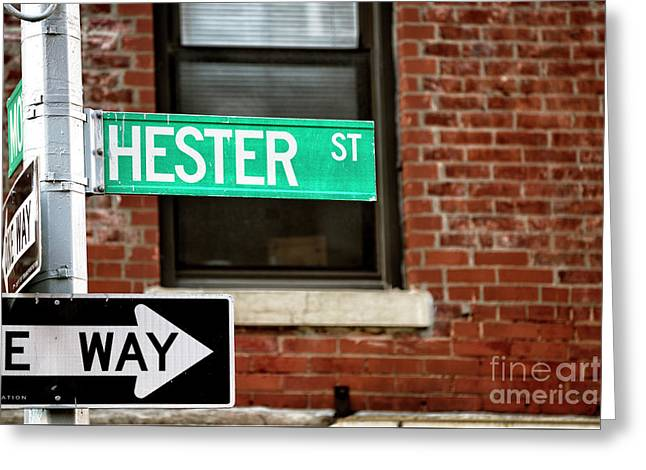 Greeting Card featuring the photograph Hester Street by John Rizzuto