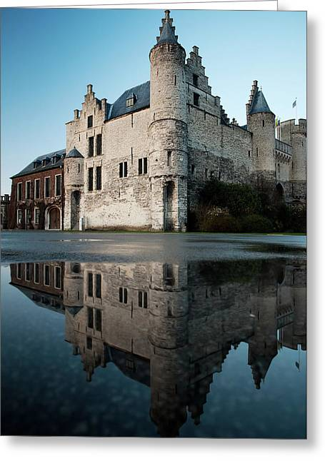Het Steen Castle And Reflection Greeting Card