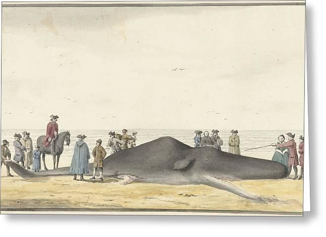 het strand tussen Zandvoort  Greeting Card by MotionAge Designs