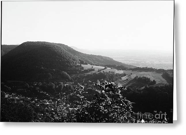 Heubach View Towards Scheuelberg Greeting Card