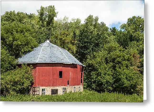 Greeting Card featuring the photograph Hexagon Barn by Dan Traun