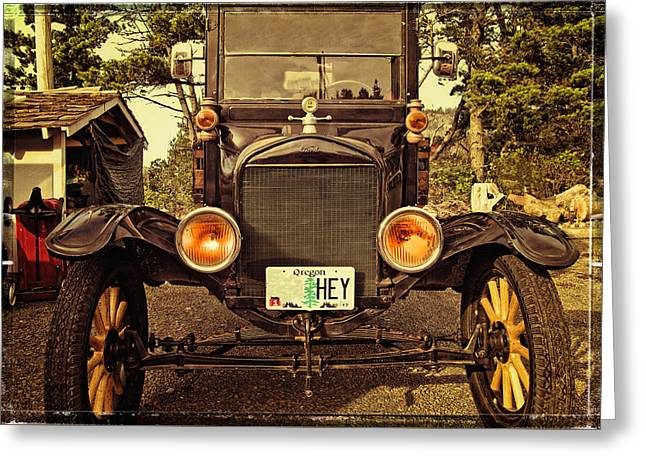 Hey A Model T Ford Truck Greeting Card