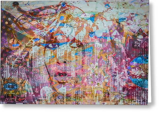 Greeting Card featuring the digital art Hey Good Lookin by Eleni Mac Synodinos