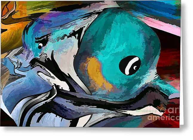 Hey Guy I Am Silly Willy The Fish Greeting Card by Sherri  Of Palm Springs