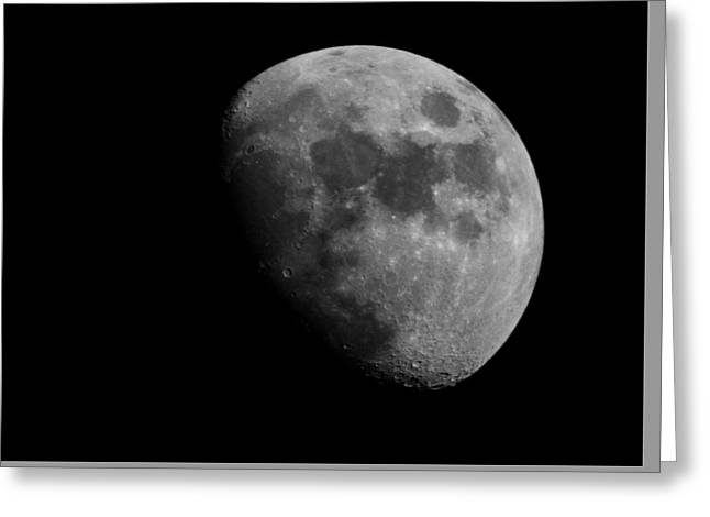 Hey Moon Greeting Card by Mike Trapp