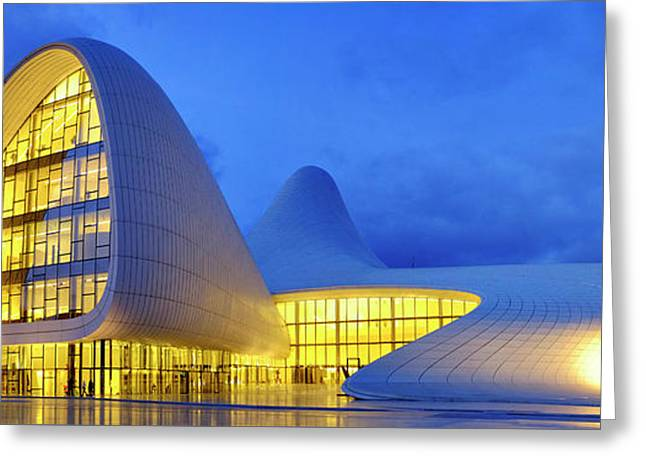 Greeting Card featuring the photograph Heydar Aliyev Center by Fabrizio Troiani