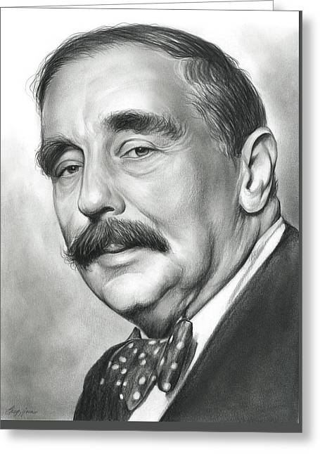 H.g. Wells Greeting Card