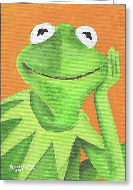 Kermit the frog greeting cards page 3 of 3 fine art america hi ho kermit the frog greeting card m4hsunfo