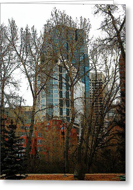 Hi-rise Living  Greeting Card by Stuart Turnbull
