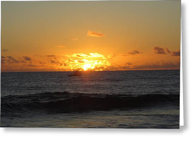 Hi Sunset-1 Greeting Card by Ron Smith