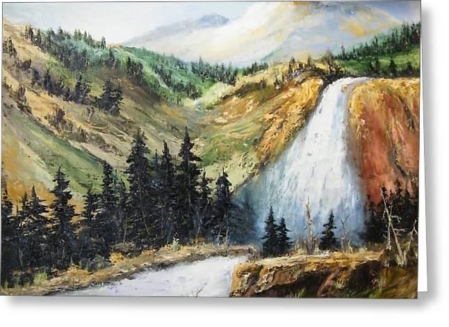 Hiawatha Falls Greeting Card by Larry Doyle
