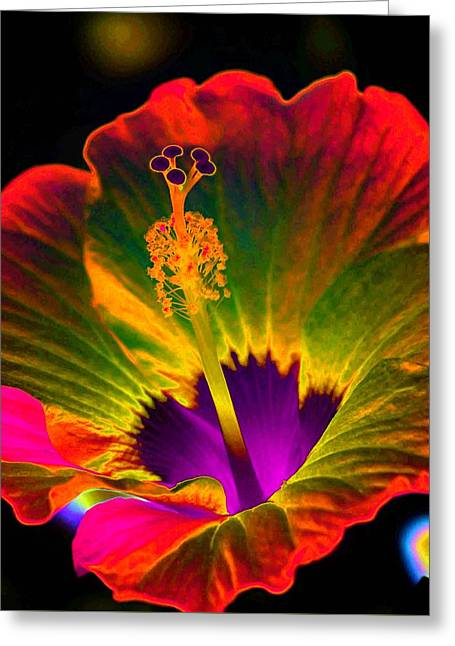 Hibiscus 01 - Summer's End - Photopower 3189 Greeting Card