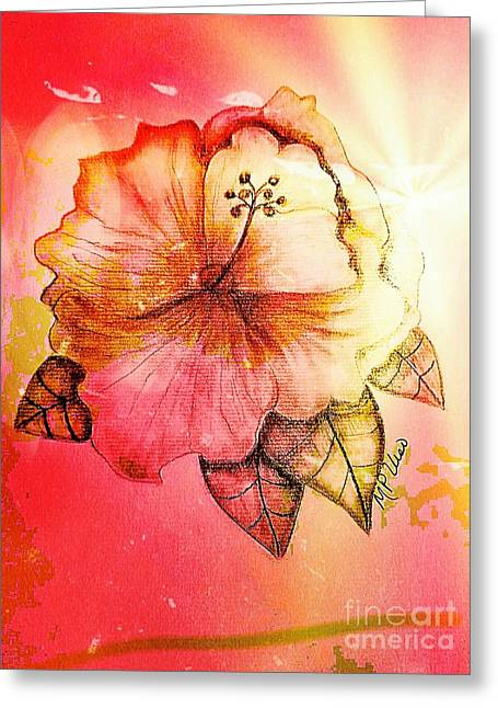 Hibiscus 16-01 Greeting Card by Maria Urso