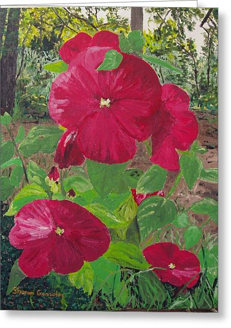 Hibiscus 2 Greeting Card by Sharon  De Vore