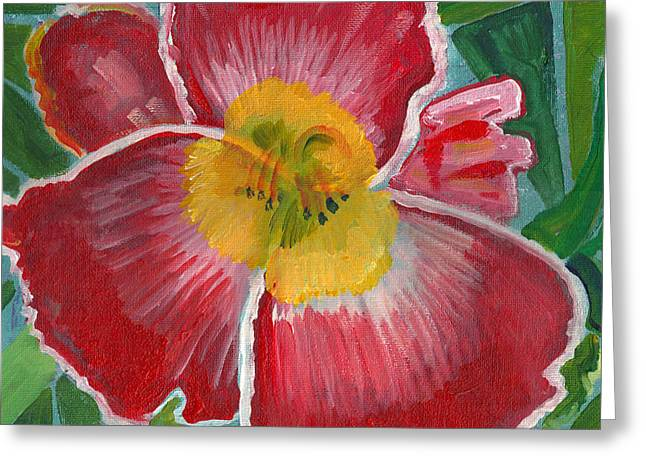 Greeting Card featuring the painting Hibiscus 3 by John Keaton