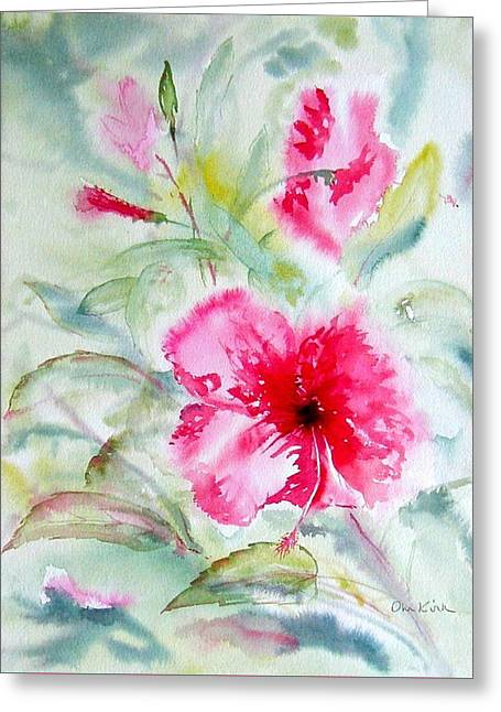 Hibiscus Fantasy Greeting Card