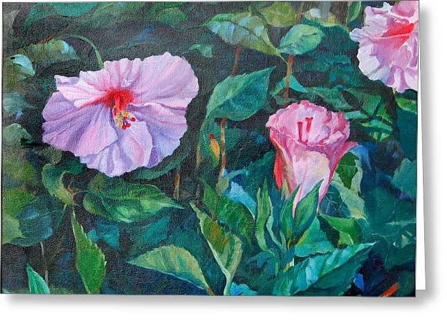 Hibiscus Greeting Card by Michael McDougall