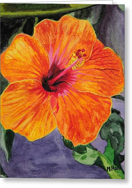 Hibiscus Greeting Card by Michelle Hand