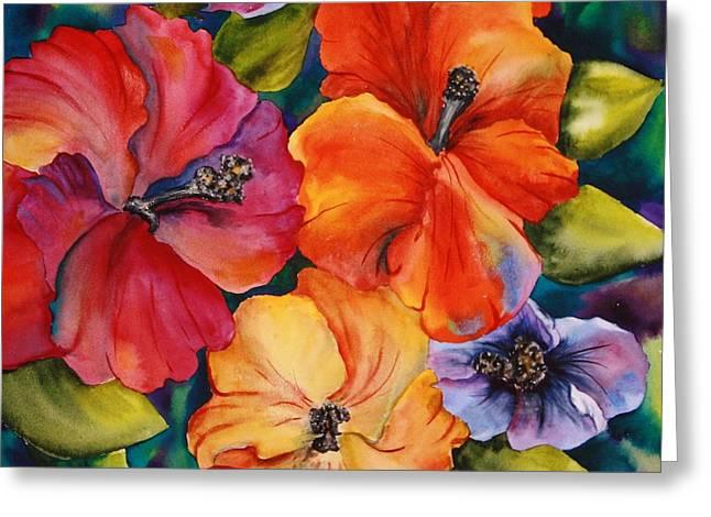 Hibiscus Mini Greeting Card