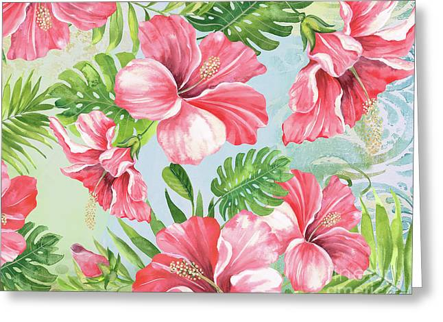 Hibiscus Paradise-jp3966 Greeting Card by Jean Plout