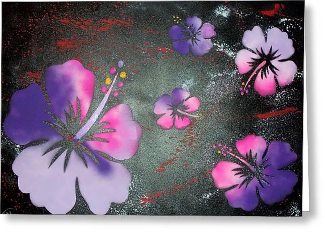 Hibiscus Greeting Card by Trenton Heckman