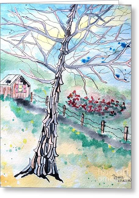 Greeting Card featuring the painting Hickory by Denise Tomasura