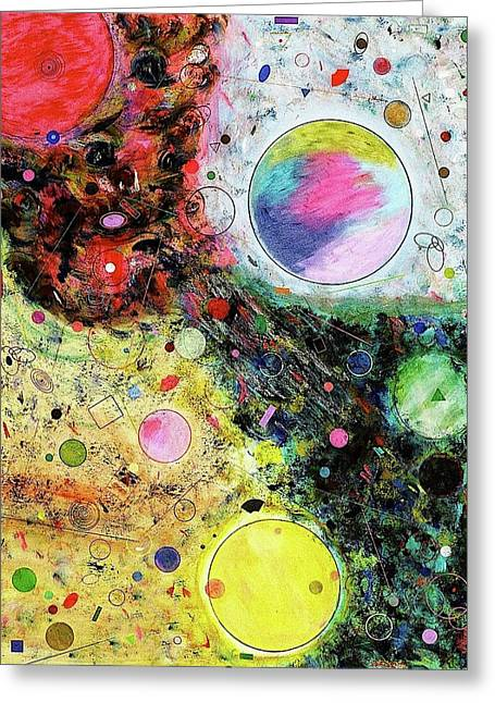 Greeting Card featuring the mixed media Hidden Aliens by Michael Lucarelli