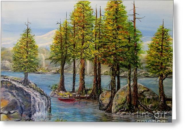 Hidden Alpine Lake Greeting Card