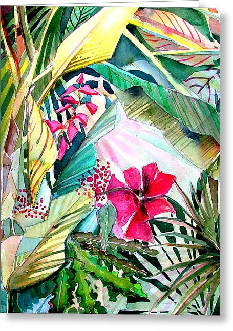 Orchid Cactus Greeting Cards - Hidden Beauty Greeting Card by Mindy Newman