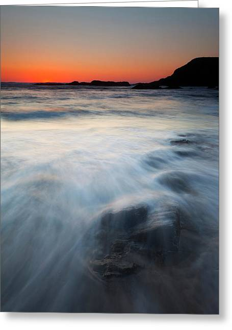Hidden Beneath The Tides Greeting Card by Mike  Dawson