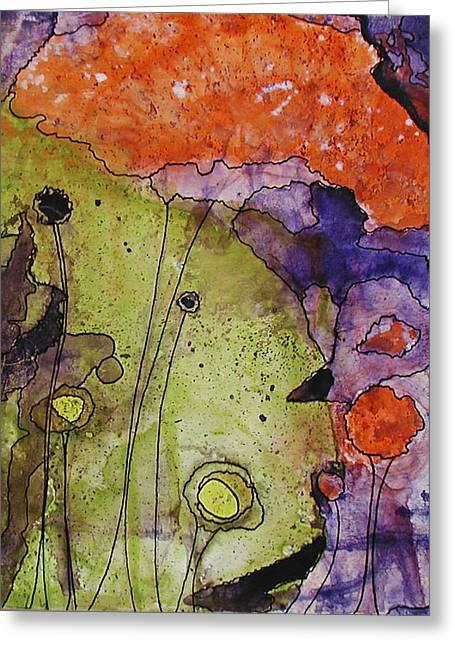 Hidden Forest Greeting Card by Christy Sobolewski