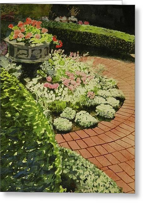 Hidden Garden In Quebec Greeting Card by Walt Maes