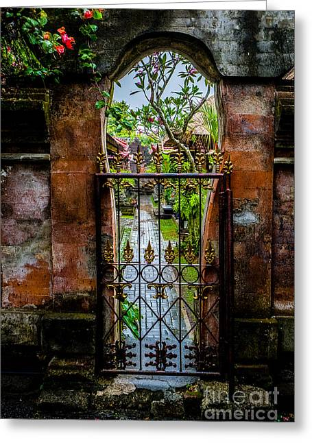 Bali Gate Greeting Card
