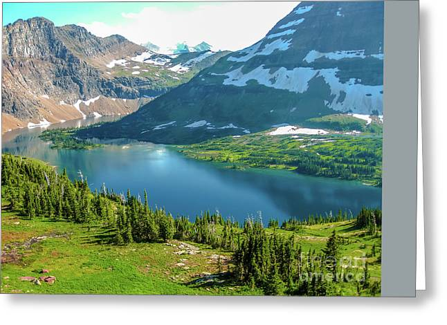 Hidden Lake Glacier National Park Greeting Card
