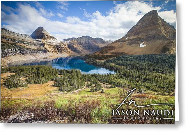 Greeting Card featuring the photograph Hidden Lake by Jason Naudi
