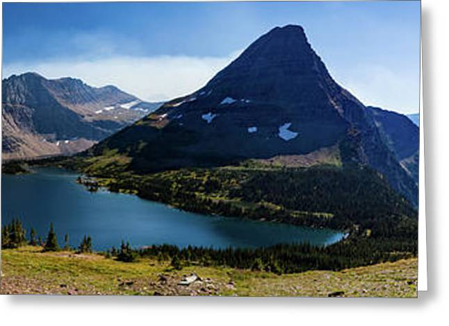 Greeting Card featuring the photograph Hidden Lake Panorama At Glacier National Park by Lon Dittrick