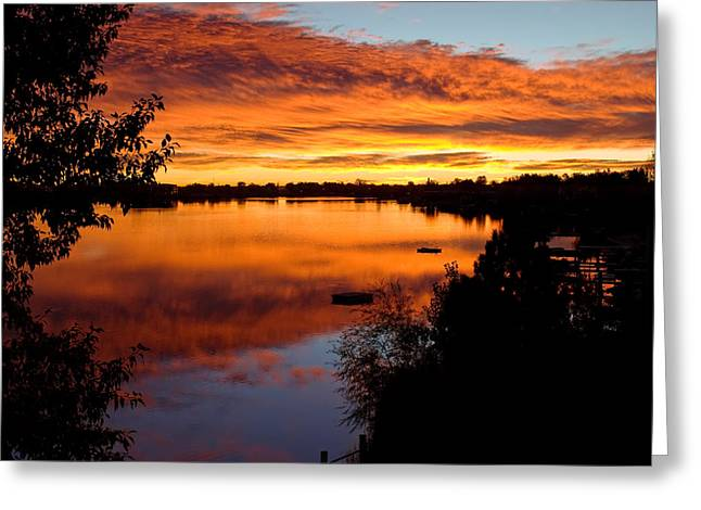 Hidden Lake Sunrise Greeting Card by Thomas Lewis