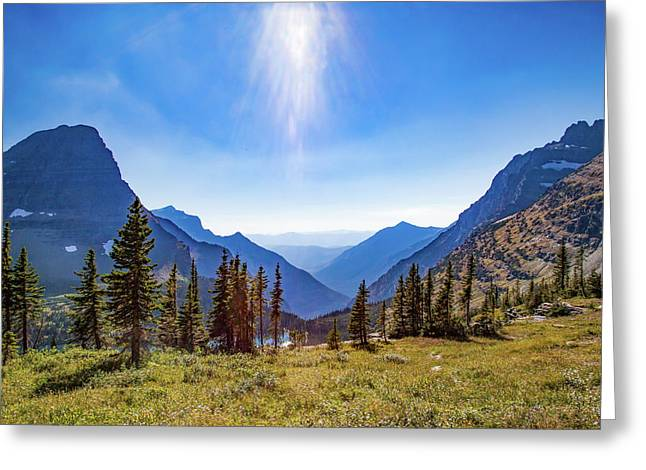 Greeting Card featuring the photograph Hidden Lake Valley Glacier National Park by Lon Dittrick