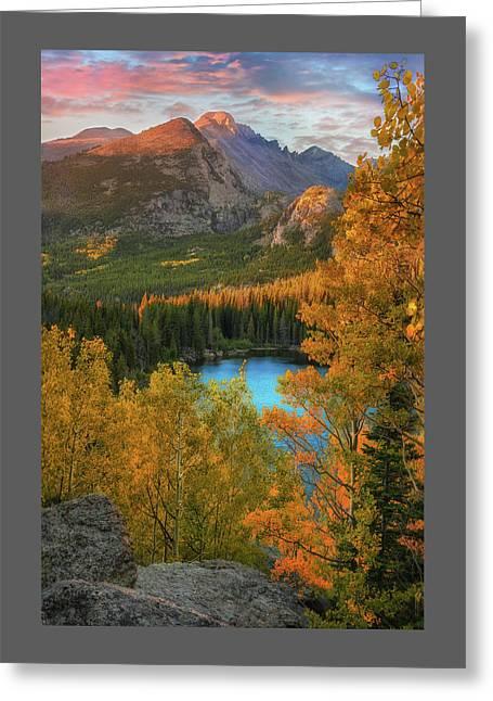Hidden Overlook - Bear Lake Colorado By Thomas Schoeller Greeting Card by Thomas Schoeller