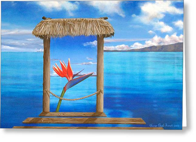 Hidden Paradise Greeting Card by Sharon Ebert