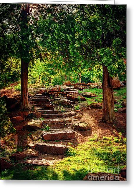 Hidden Path At Honor Heights Park Greeting Card by Tamyra Ayles