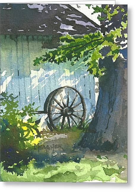Hidden Shadows Greeting Card by Spencer Meagher
