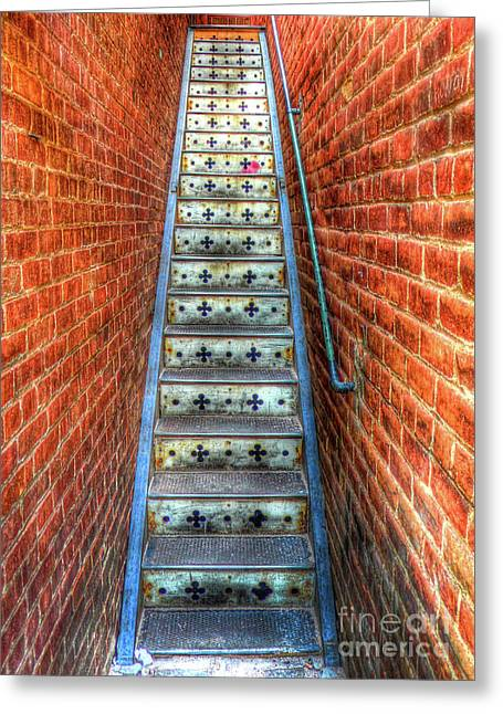 Hidden Stairway In Old Bisbee Arizona Greeting Card
