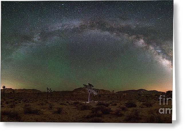 Hidden Valley Milky Way Pano Greeting Card